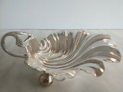 Rare Wonderful Antique Walker And Hall Silver Plate Caviar/butter Shell Exquisite