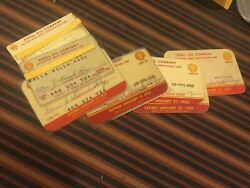Shell Oil Gas Company 1953 1954 1955 1956 National 10 Credit Cards Antique Old
