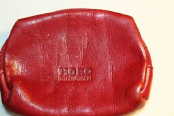 HOBO WOMEN#x27;S ZIP AROUND SMALL COIN WALLET BURGUNDY GENUINE LEATHER CUTE MINT $7.99