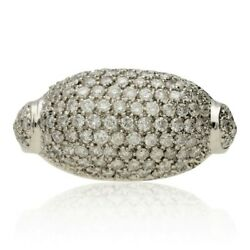 Pre-owned 18ct White Gold Diamond Cluster Bombe Ring 1.75cts