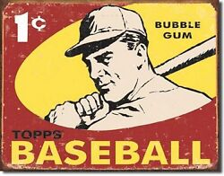 Topps Baseball 1959 Gum Cards 1 Cent Metal Sign Tin New Vintage Style 1404