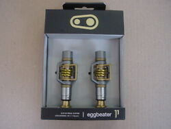 New Crank Brothers Eggbeater 11 Titanium Mountain Cyclocross Pedals Cleats Gold