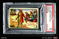 1954 Topps Scoop 90 Columbus Discovers America Without Coating Psa 7 - Nm