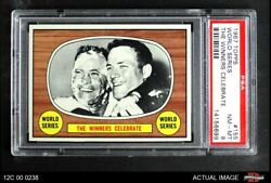 1967 Topps 155 Hank Bauer / Dave Mcnally - 1966 Orioles / Dodgers Psa 8 - Nm/mt