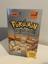 Pokemon The First Movie Topps Trading Cards. 88 Cards Per Box. New Sealed 2526