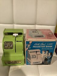 Uncle Sam's Metal 3 Coin Register Bank Nickels Dimes Quarters New Lime Green