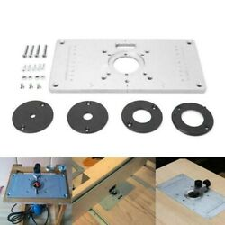 Router Table Insert Plate Ring Aluminium Woodworking Benches Milling Trimming