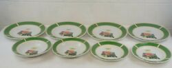 John Deere Dishes 1935 Model B Tractor By Gibson Lot Of 8 Plates And Bowls
