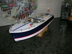 TOY WOOD BOAT SPEED BOAT BATTERY OPERATED BOAT ITO Kamp;O WOODEN BOATJAPAN BOAT
