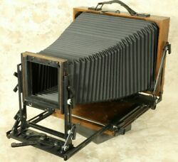 K.b. Canham 4x10 Wood/aluminum Camera In Case. Excellent To Mint Condition