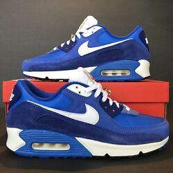 New Nike Air Max 90 Se And039first Use - Signal Blueand039   Db0636-400   Menand039s Size 10