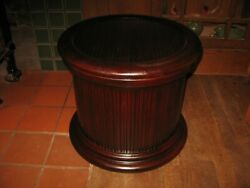 Antique Round Wooden Chamber Pot Commode Potty Toilet Sturdy Plant Stand Table
