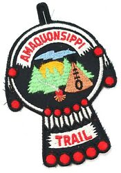 Vintage Amaquonsippi Trail Scenic Twill Boy Scouts America Bsa Camp Patch