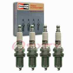 4 Pc Champion Intake Side Double Platinum Spark Plugs For 1984-1988 Nissan Cx