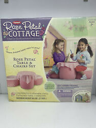 Playskool Rose Petal Cottage Table And Chairs Set 2007 Hasbro Brand New Sealed