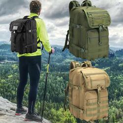 45L Camping Military Tactical Backpack Mens Outdoor Water Repellent Sport Bag US $49.99