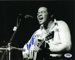 Bill Withers Autographed Signed 8x10 Photo Certified Psa/dna Coa Aftal