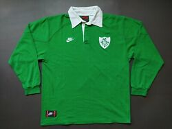 Ireland 1993/1995 Rugby Shirt Jersey Vintage Retro Nike Long Sleeve Authentic L