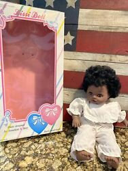 """Lissi Baby Doll Black African American 16"""" With Box"""