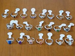 New W/tag Ring Bomb Party Lot Of 22 Unicorn 🔥opals Pink Rainbow Topaz Moonstone