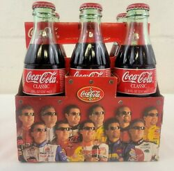 2001 Coca-cola Nascar The Racing Family 8oz 6 Pack Coke Bottles W/ Carrier