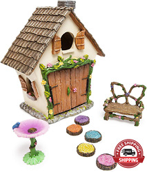 Meadow And Oak Fairy House Kit Outdoor Fairy Garden Kit For Kids And Adults Fairy