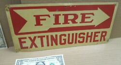 FIRE EXTINGUISHER Old Original Sign Came From TCA THERMOMETER FACTORY in OHIO