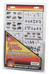 Woodland Scenics A2051 Ho Scenic Accents Economy Pack - Assorted Farm Set