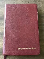 Niv Holy Bible Thinline Burgundy Bonded Leather Red Letter