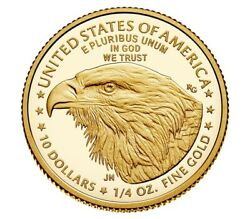 2021-w 1/4 Oz Ounce American Eagle Gold Proof Coin 21edn Type 2 Confirmed