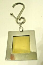 Vintage 12 Ornaments Photo Picture Frames Classic Silver Modern Spiral Hooks