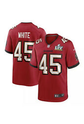 Tampa Bay Buccaneers Devin White 45 Nike Red Super Bowl Lv Bound Game Jersey Md