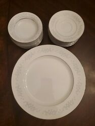 Vintage Set For 9 Crown China By Sango Oxford Hall Dinner Plate 315 27 Plates