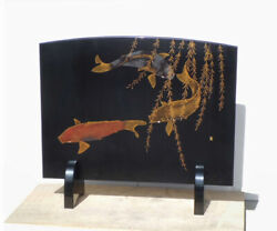 Traditional Lacquering Crafts Wajima-lacquered Lacquered Standing Autumn Carp