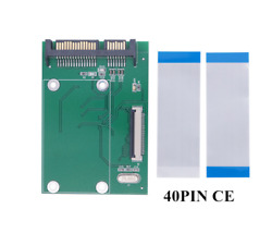 2pcs Ce / Zif To Sata Serial Port Hard Disk Adapter Card With Flexible Cable
