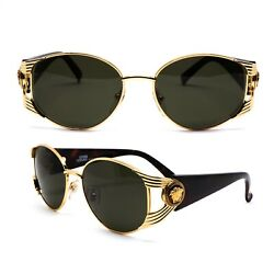 Glasses Gianni Versace S64 030 Vintage Sunglasses New Old Stock 1990's