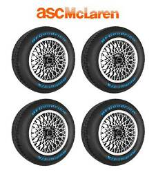 1987-1988 Asc Mclaren Mustang Oem Silver Wheels And Tires W/ Center Caps Set Of 4