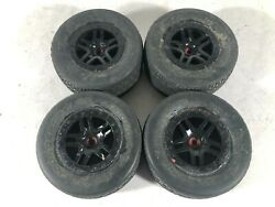 Jconcept Sc Dirt Webs Mounted On Traxxas Wheels For 4x4 Sct Used See Descp.