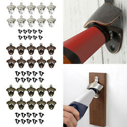 10pcs Classic Wall Mounted Bottle Opener Vintage Beer Opener For Home Bar