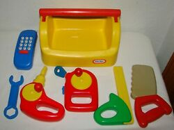 Vintage Little Tikes Yellow Toolbox With Tools