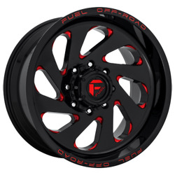 20 Inch Black Red Wheels Rims Lifted Ford F250 Truck Superduty D638 20x10 8x170