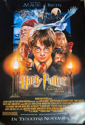 """Harry Potter And The Sorcerers Stone 48x72"""" Original Bus Stop Movie Poster"""