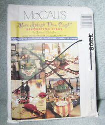 Mccalls Uncut Sewing Pattern 3208 Placemats For Round Tables Donna Babylon