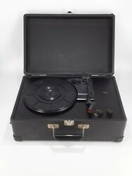 Crosley Cr49 Portable Suitcase Vinyl Record Player -33/45/78 Rpm Black Tested