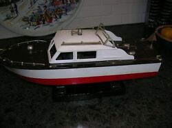 FLEET LINE BOAT CABIN CRUISER BATTERY OPERATED BOAT Kamp;O ITO TOY WOOD BOAT