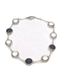 And Co Paloma Picasso Sterling Silver Round Crystal Onyx/quartz Bracelet