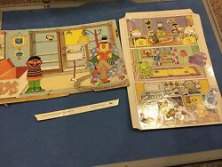 Colorforms Ernie And Bert 1986 Playhouse And 1974 Playtime Replacements