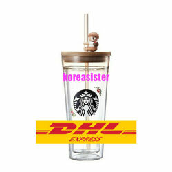 Starbucks Korea 2018 Autumn Figure Double Wall Glass Cold Cup 591ml Limited