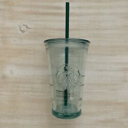 Starbucks Siren Mermaid Recycled Glass Cold-to-go Cup Tumbler 16 Oz Grande Spain