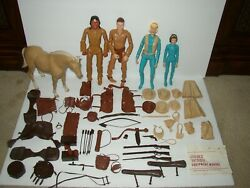 Vintage Marx Johnny West 12 Action Figures And Accessories Lot 4 Figures 1 Horse